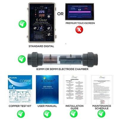 Бесхлорная система дезинфекции воды E-CLEAR MK7/CF1-150 (фото, E-CLEAR MK7/CF1-150)