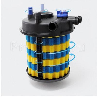 Напорный фильтр для пруда до 30м3 CPF-15000 (фото, Напорный фильтр для пруда до 30м3 Pondtech CPF-15000)