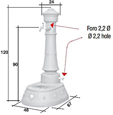 Водопроводная колонка чугунная MORAVA GRANDE Trevi (фото, Водопроводная колонка MORAVA GRANDE Trevi )