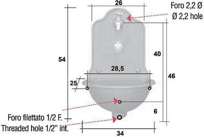 Водопроводная колонка ISEO PICCOLA (фото, Колонка на стену ISEO PICCOLA )
