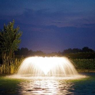 Плавающий фонтан аэратор Pondtech HP 100K (фото, Фонтан Pondtech HP 100K с Белой подсветкой)