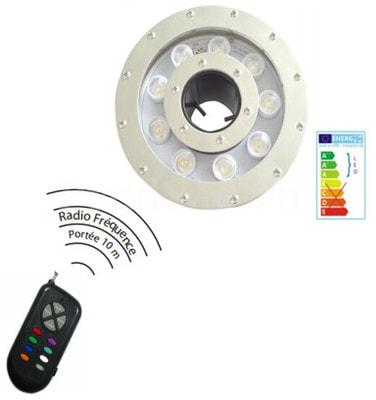 Подсветка для фонтанов AquaViva 9LED (20Вт 12В) RGB (фото, Подсветка для фонтанов AquaViva 9LED (20Вт 12В) RGB )