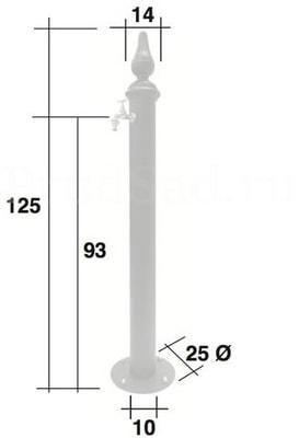 Водопроводная колонка чугунная Diana (фото,  Водопроводная колонка чугунная Diana)
