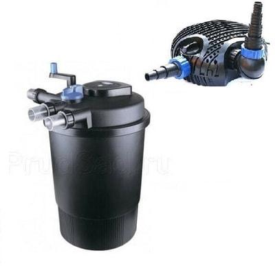 """Комплект для фильтрации пруда до 60 м3 """"CPF-30000"""", УФ-лампа 55 Вт, насос, скиммер"""