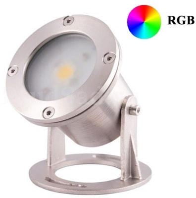 Прожектор LED AquaViva (1led 7W 12V) RGB (фото, Прожектор LED AquaViva (1led 7W 12V) RGB)