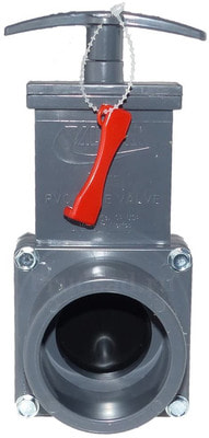 Задвижка ПВХ для трубопровода, 50 мм (фото,  Задвижка ПВХ для трубопровода, 50 мм)