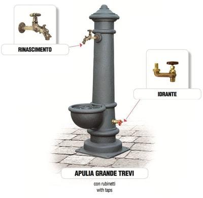 Водопроводная колонка чугунная APULIA GRANDE (фото, Водопроводная колонка APULIA GRANDE )