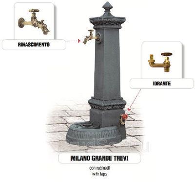 Водопроводная колонка чугунная MILANO GRANDE TREVI (фото, Водопроводная колонка чугунная Monachella Grande Trevi)