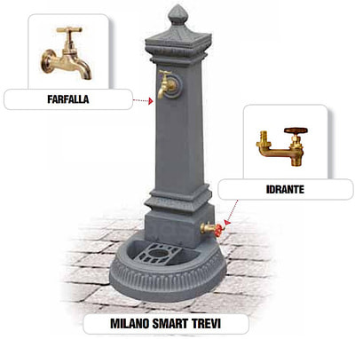 Водопроводная колонка чугунная Milano Smart Trevi (фото, Водопроводная колонка чугунная Milano Smart Trevi)