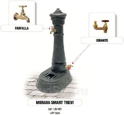 Водопроводная колонка чугунная Morava Smart Trevi (фото, Водопроводная колонка чугунная Morava Smart Trevi)