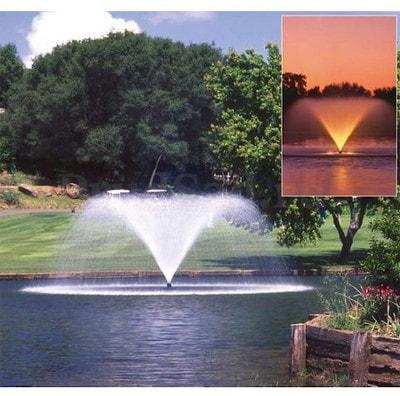 Плавающий фонтан Pondtech HP 100K (фото, Фонтан Pondtech HP 100K с Белой подсветкой)